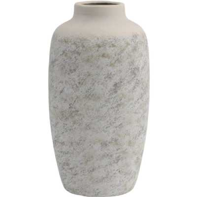 Textured Ceramic Vase in Grey Large