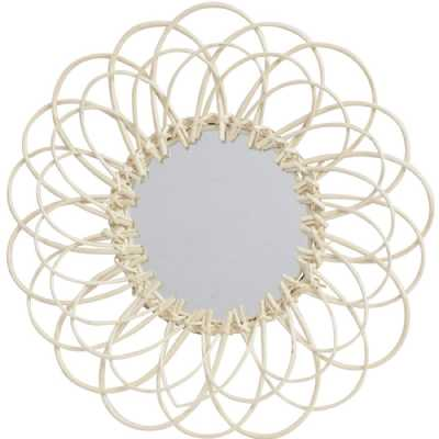 Looped Natural Willow Round Mirror