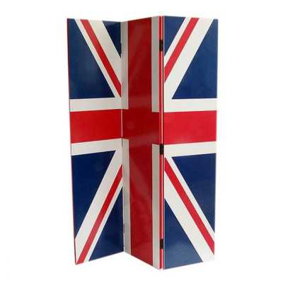 Union Jack British Flag 3 Panel Screen