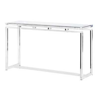 Contemporary Glass Top Acrylic Console Table