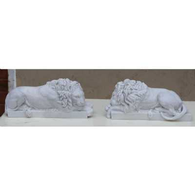 Marbaline Classical Figure Lions Pair