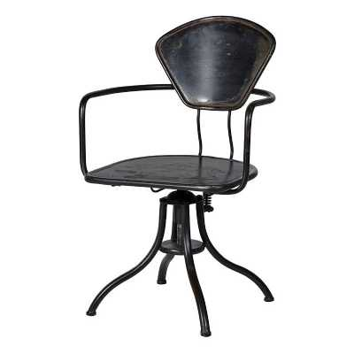 Blk Iron Office Chair