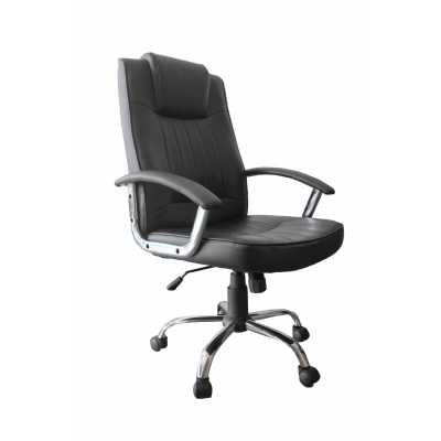 Anaheim Leather Match Black Office Chair