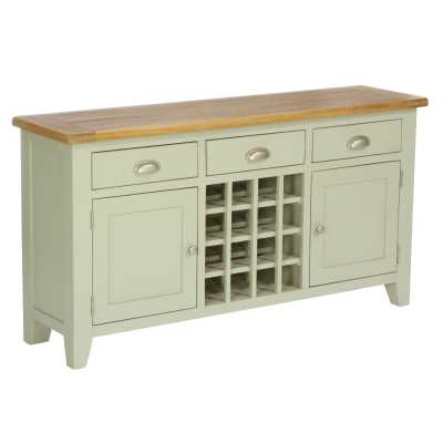 Vancouver Expressions French Grey 3 Drawer 2 Door Wine Table