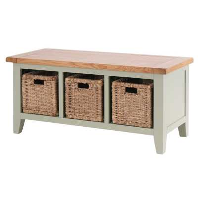Vancouver Expressions French Grey Storage Bench with 3 Basket Drawers