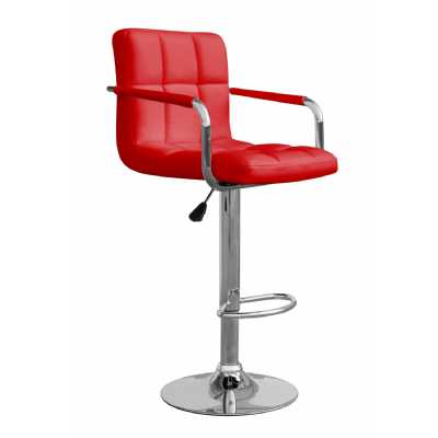 Appleby Leather Match Red Bar Stool