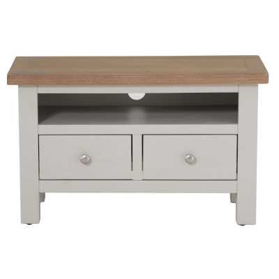 Vancouver Compact Grey TV Unit with 1 Drawer