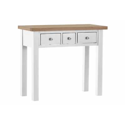 Vancouver Chalked Oak Top Light Grey Painted 3 Drawer Dressing Table