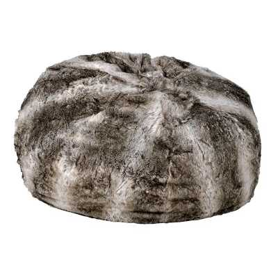 Faux Fur Bean Bag With Suede Bottom