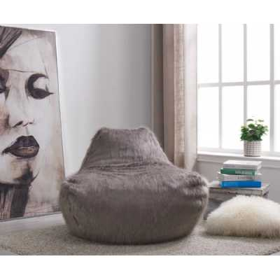 Faux Sheepskin Bean BagGrey