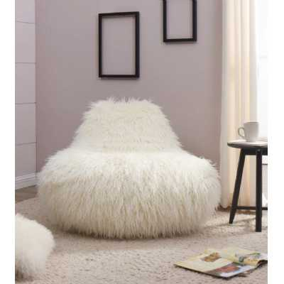 Faux Sheepskin Bean BagWhite