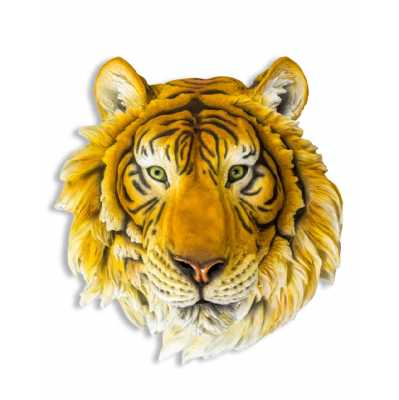 Large Tiger Head Wall Mounted Statue Realistic Wall Decoration