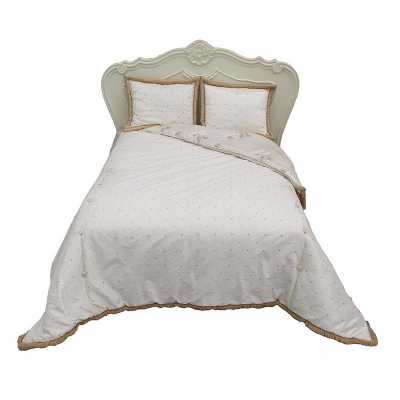 King Size Bed Spread (Gold Ivory)