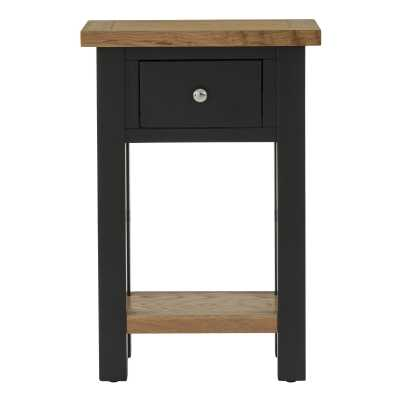 Vancouver Compact Black Grey Telephone Table