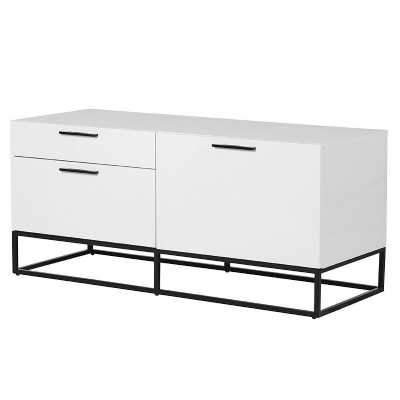 Contemporary White Gloss Entertainment Unit TV Cabinet