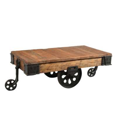 Handicrafts Upcycled Iron Trolley Coffee Table