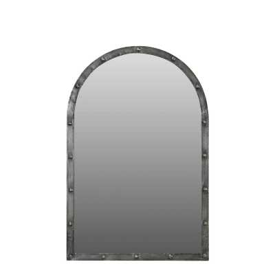 Handicrafts Arched Industrial Wall Mirror With Metal Iron Frame
