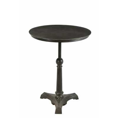 Handicrafts Round Iron and Reclaimed Timber Cafe Pedestal Table