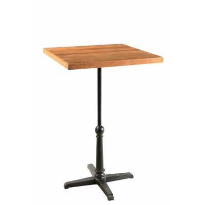 Handicrafts Square Iron and Reclaimed Timber Bar Table