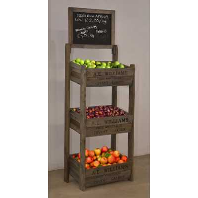 Vintage Display Crates 3 Tier Crate Display with Chalk Board KD