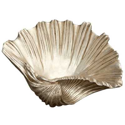 Silver Gilt Leaf Shell Basin