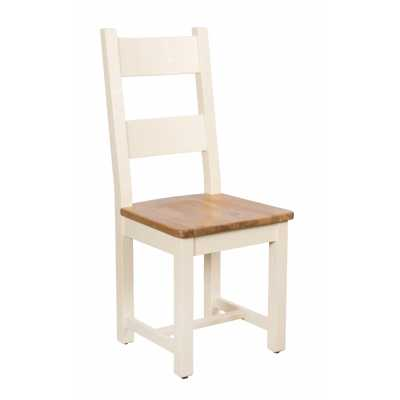 Vancouver Expressions Cornish Cream Horizontal Slats Dining Chair with Timber Seat