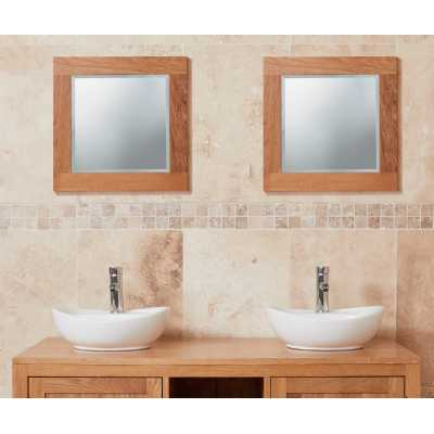 Bathroom Collection Solid Oak Mirror (Small)