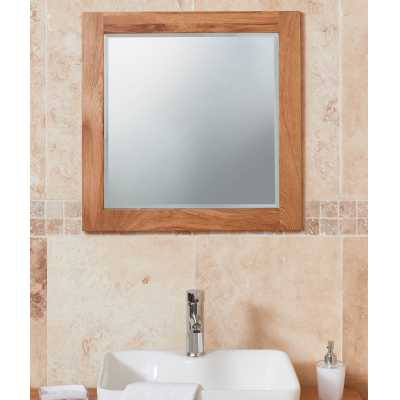 Bathroom Collection Solid Oak Mirror (Large)