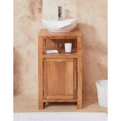 cbc19b2 baumhaus bathroom collection solid oak single door sink unit round
