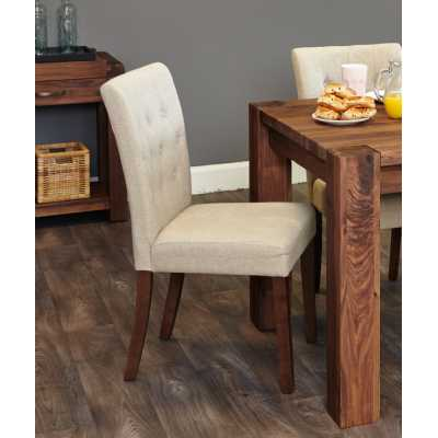 Flare back Upholstered Dining Chair PACK OF TWO