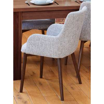 Walnut Light Grey Chair (Pack of two)