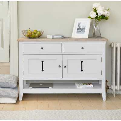 Grey Painted Sideboard Hall Console Shoe Storage Table