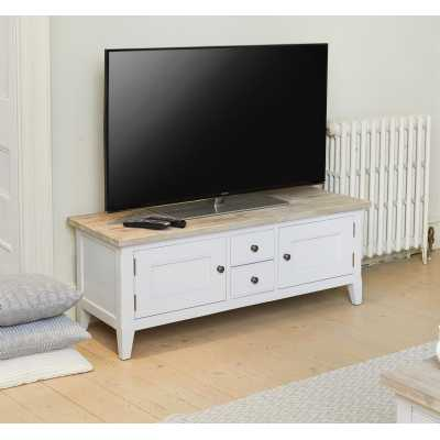 CFF09A Baumhaus Signature Grey Widescreen Television Stand