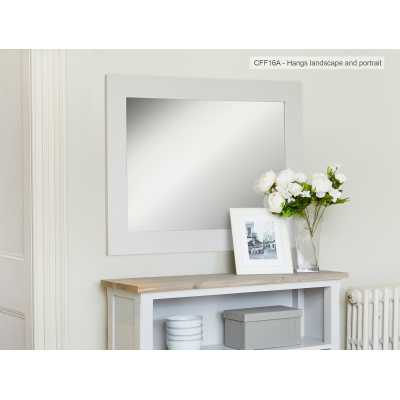 Grey Painted Overmantle Wall Mirror