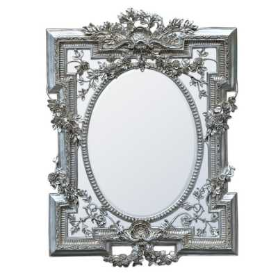 Florette Silver Gilt Leaf Bevelled Mirror