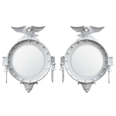 White Mirror Sconce Set Of 2