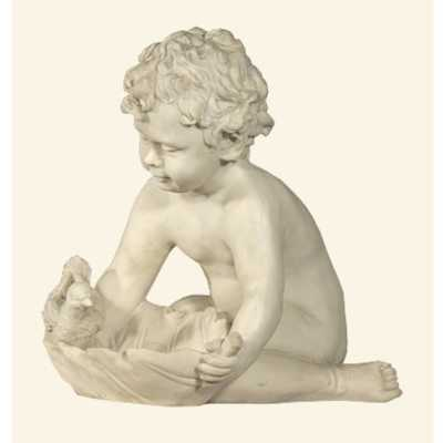 Cherub With Bird Marble