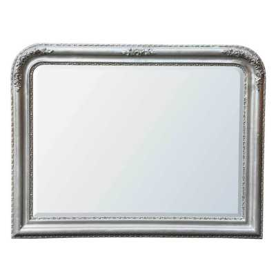 Louis Philippe Silver Gilt Leaf Overmantle Mirror