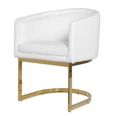 Plain Modern White Chair Free Delivery To Decorating