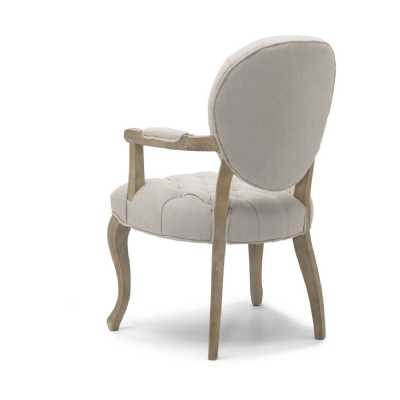 Chambord Natural Carver Chair Washed legs