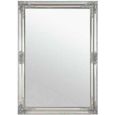 Charlotte Overmantle Mirror Antique Silver 72x102cm (Set of 2)