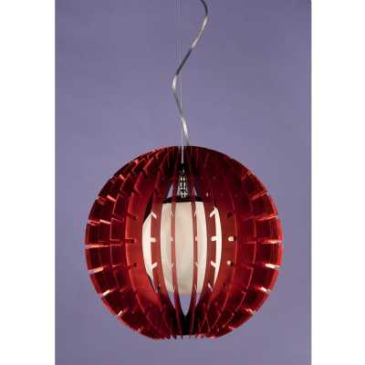 Contemporary Red Ball Pendant Light