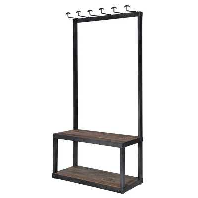 Medium Storage Open Bench And Entrance Hall Coat Stand with Hookes