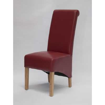 Richmond Red Dining Chair BONDED