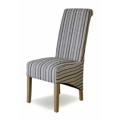 Striped Fabric Richmond Chair (NATURAL)