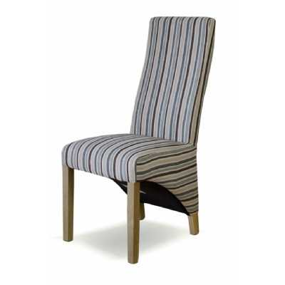 Striped Fabric Wave Chair (NATURAL)