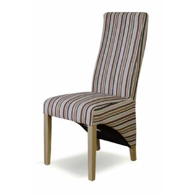 Striped Fabric Wave Chair (ROYALE)