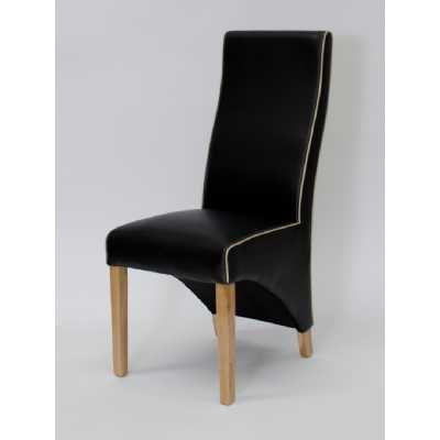 Wave Noir Bone Contrast piping Dining Chair