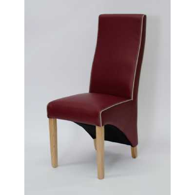 Wave Ruby Bone Contrast piping Dining Chair