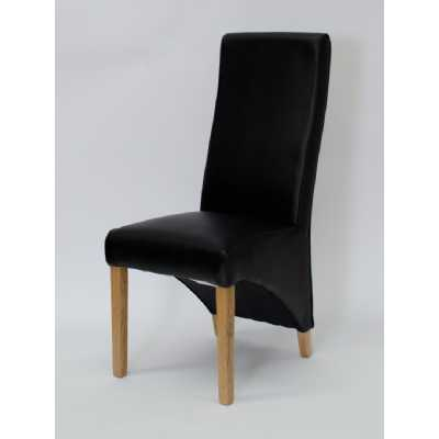 Wave Noir Dining Chair MATT BONDED